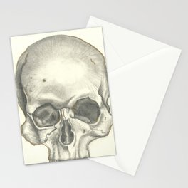 Vintage Skull - Black and White Drawing Stationery Cards
