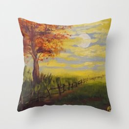 Summer's Sunset Throw Pillow