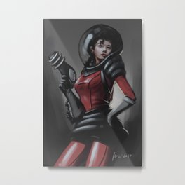 space girl Metal Print
