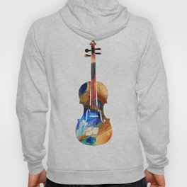 Violin Art By Sharon Cummings Hoody