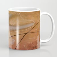 religious Mugs featuring The Dove Religious Abstract Art By Saribelle  by Saribelle Inspirational Art