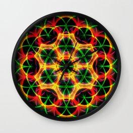 Lattice Mandala Wall Clock