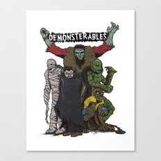 The Demonsterables Canvas Print