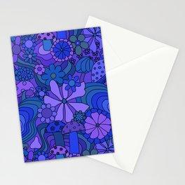 Groovy Mushroom Garden in Grape Stationery Cards