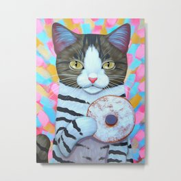 POWDERED SUGAR DONUT Metal Print