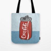 coke Tote Bags featuring COKE 4EVR by Josh LaFayette