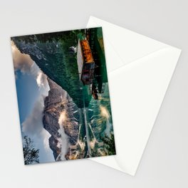 Italy mountains lake Stationery Cards