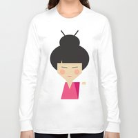 geisha Long Sleeve T-shirts featuring Geisha by Page 84 Design
