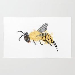 Abstract Bee Rug