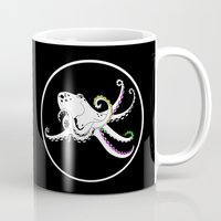 octopus Mugs featuring Octopus by mailboxdisco
