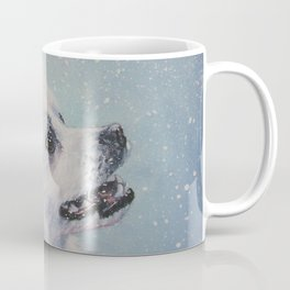 American Eskimo Dog portrait Fine Art Dog Painting by L.A.Shepard Coffee Mug
