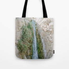 Desert Waterfall at Ein Gedi - Holy Land Fine Art Film Photography Tote Bag