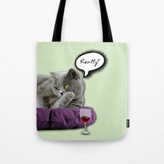 DRUNKY CAT Tote Bag