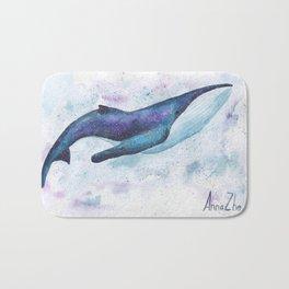 Big space whale illustration Bath Mat