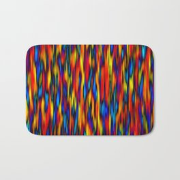 primary verticals on black Bath Mat