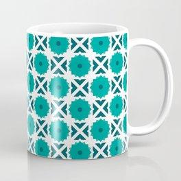 Flowers and spikes – turquoise Coffee Mug