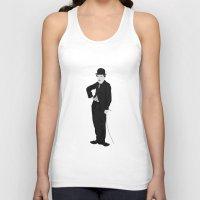 charlie chaplin Tank Tops featuring Charlie Chaplin by liamgrantfoto