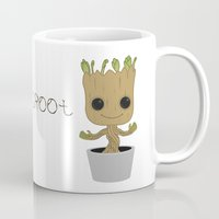 groot Mugs featuring Little Groot by Pete