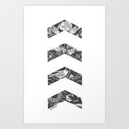 Liam's Chevrons Art Print