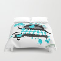 balloons Duvet Covers featuring Balloons by David Pavon