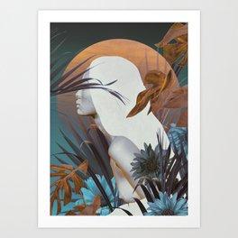 Golden Tropical Garden Art Print