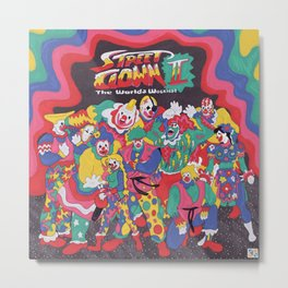 Street Fighter Clown Edition Metal Print