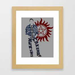 Dean winchester supernatural Framed Art Print