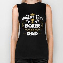 World's Best Boxer Dad Biker Tank