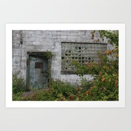 Old door to the unknown Art Print