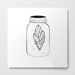 Crystal in a bottle Metal Print