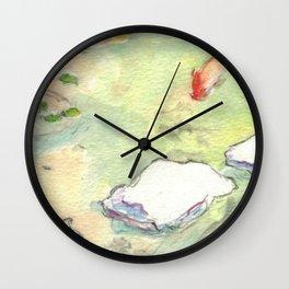 Small Koi Pond 28 Wall Clock