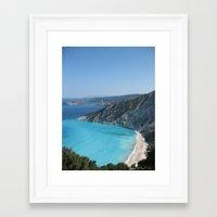 greece Framed Art Prints featuring Greece by Melia Metikos