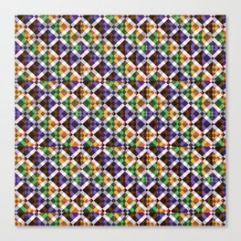 Retro Box Mosaic Canvas Print