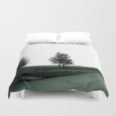 Blurry Trees Duvet Cover