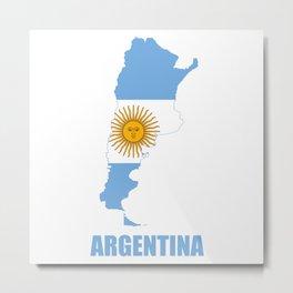 argentina logo Metal Print
