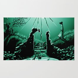 Abandoned Tower Poster Art Rug
