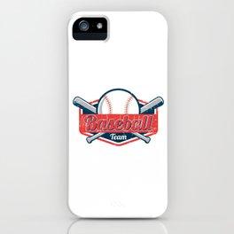 Baseball Team Pitcher Softball Players Baseball Batter Hitters Gift iPhone Case