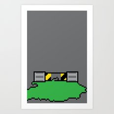 Teenage Mutant Ninja Pixels Art Print
