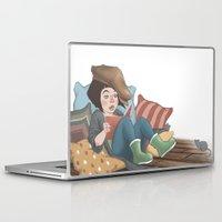 reading Laptop & iPad Skins featuring Reading by Vera Johansen