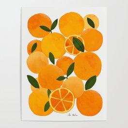 mediterranean oranges still life  Poster