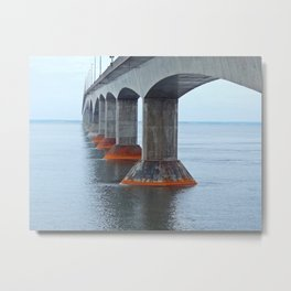 Under the Bridge in PEI Metal Print