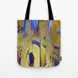 Gold Leaf Layers Abstract Tote Bag