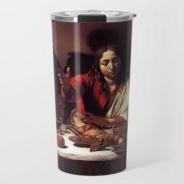 Supper at Emmaus - Caravaggio Travel Mug