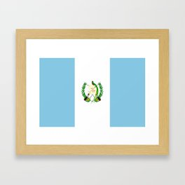 Flag of Guatemala- Guatemalan, Mixco,Villa Nueva,Petapa,tropical,central america,spanish,latine Framed Art Print