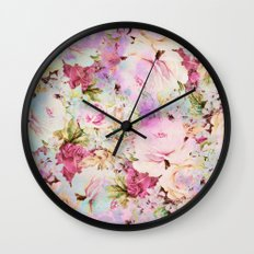 floral romance Wall Clock