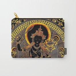 Manjushree Black Gold Thangka Carry-All Pouch