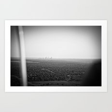 skyline haze::denver Art Print