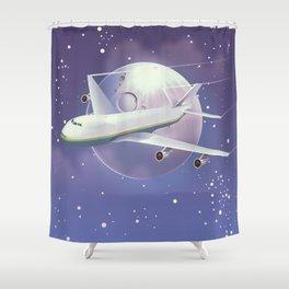 book a flight today Shower Curtain