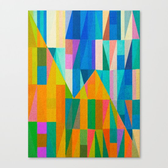 By Climbing Colors Canvas Print