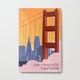 San Francisco Travel Poster Metal Print